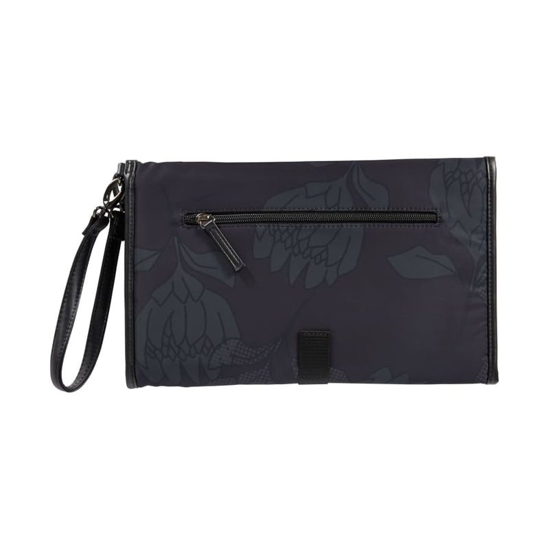 OiOi Change Mat Clutch - Protea Black/Charcoal - Nappy Bag nappy bag