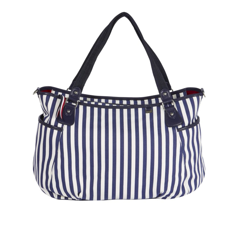 OiOi Family Beach Bag - Navy/White Stripe - Nappy Bag nappy bag