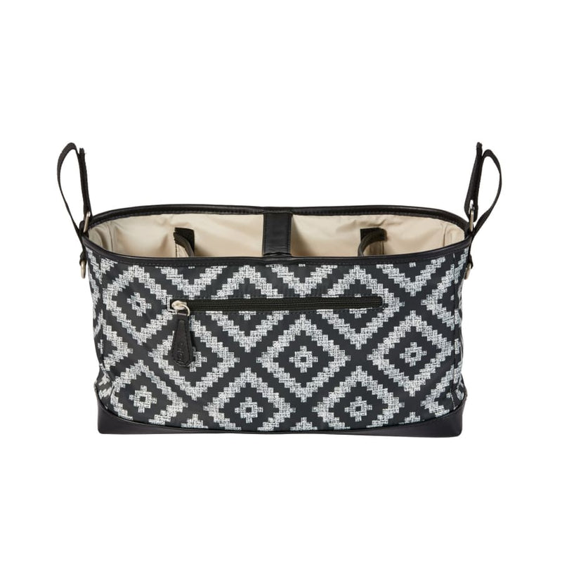 OiOi Stroller Organiser/Pram Caddy - Peat Aztec Chevron - Nappy Bag nappy bag