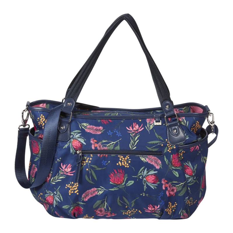 OiOi Tote Nappy Bag - Botanical Navy - Nappy Bag nappy bag