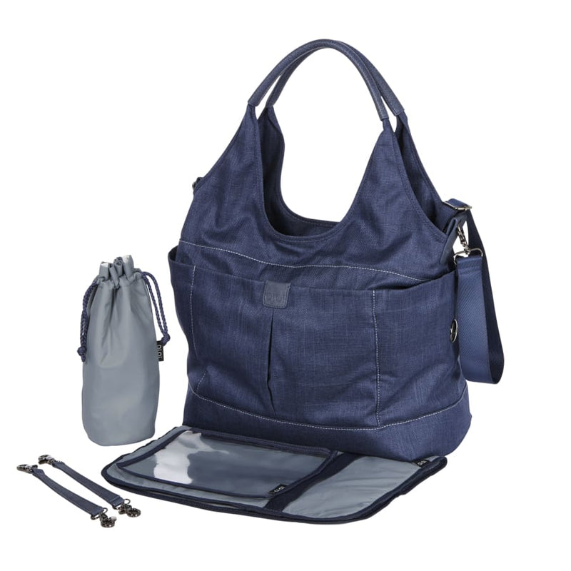 OiOi Tote Slouch Nappy Bag - Denim Blue - Nappy Bag nappy bag