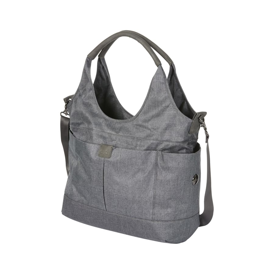 OiOi Tote Slouch Nappy Bag - Denim Grey - Nappy Bag nappy bag