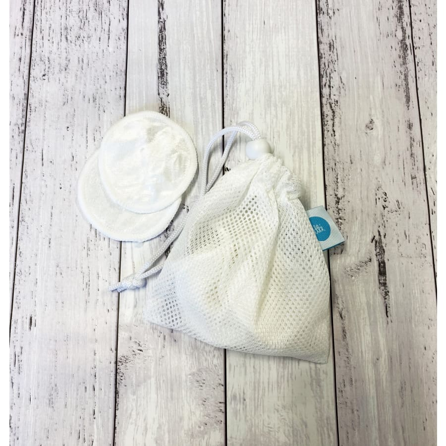 Reusable Bamboo Velour Facial Pads with Wash Bag - Cloth Nappies