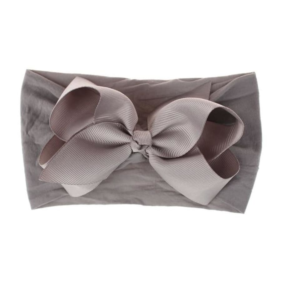Rosie Big Bow Headband - Grey - Headband headband