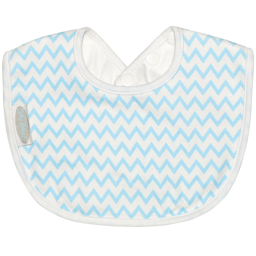 Silly Billyz Jersey Biblet - Blue Chevron - Bibs bib biblet Silly Billyz
