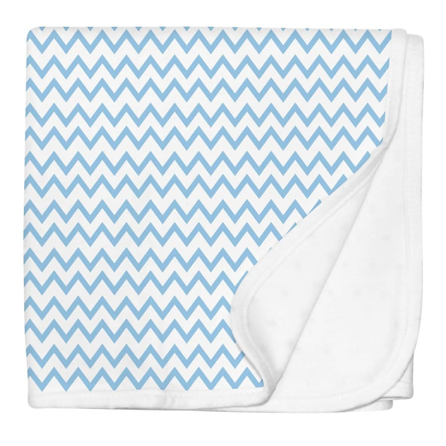 Silly Billyz Jersey Stroller Blanket - Blue Chevron - Blanket blanket jersey Silly Billyz