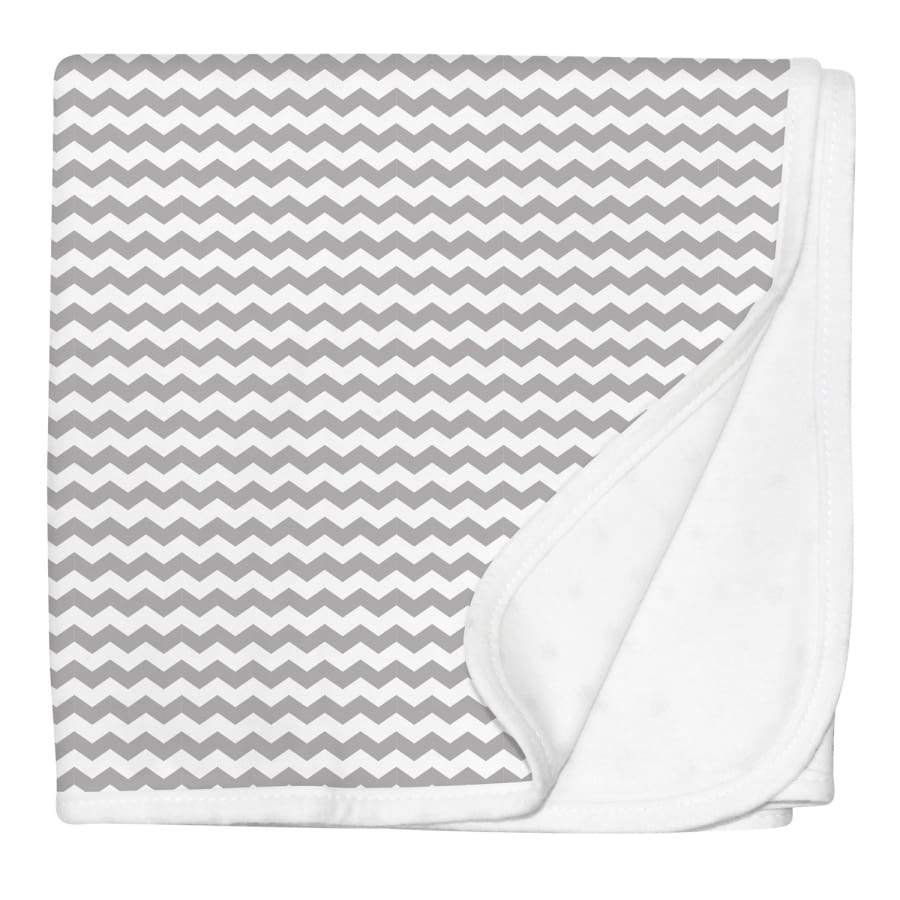 Silly Billyz Jersey Stroller Blanket - Grey Chevron - Blanket Blanket Jersey Silly Billyz