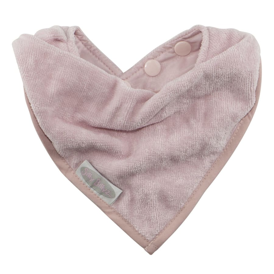 Silly Billyz Towel Bandana Bib - Antique Pink - Bibs bandana bib Silly Billyz
