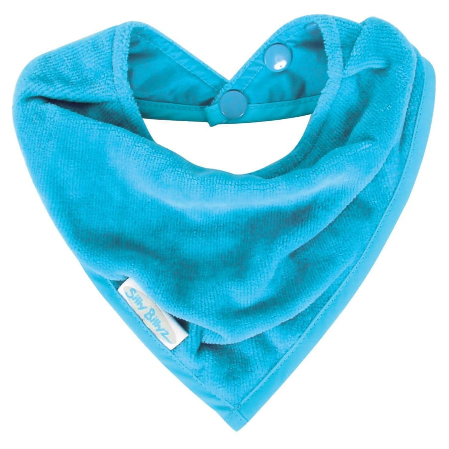 Silly Billyz Towel Bandana Bib - Aqua - Bibs bib Silly Billyz