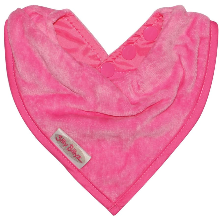 Silly Billyz Towel Bandana Bib - Cerise - Bibs bib Silly Billyz