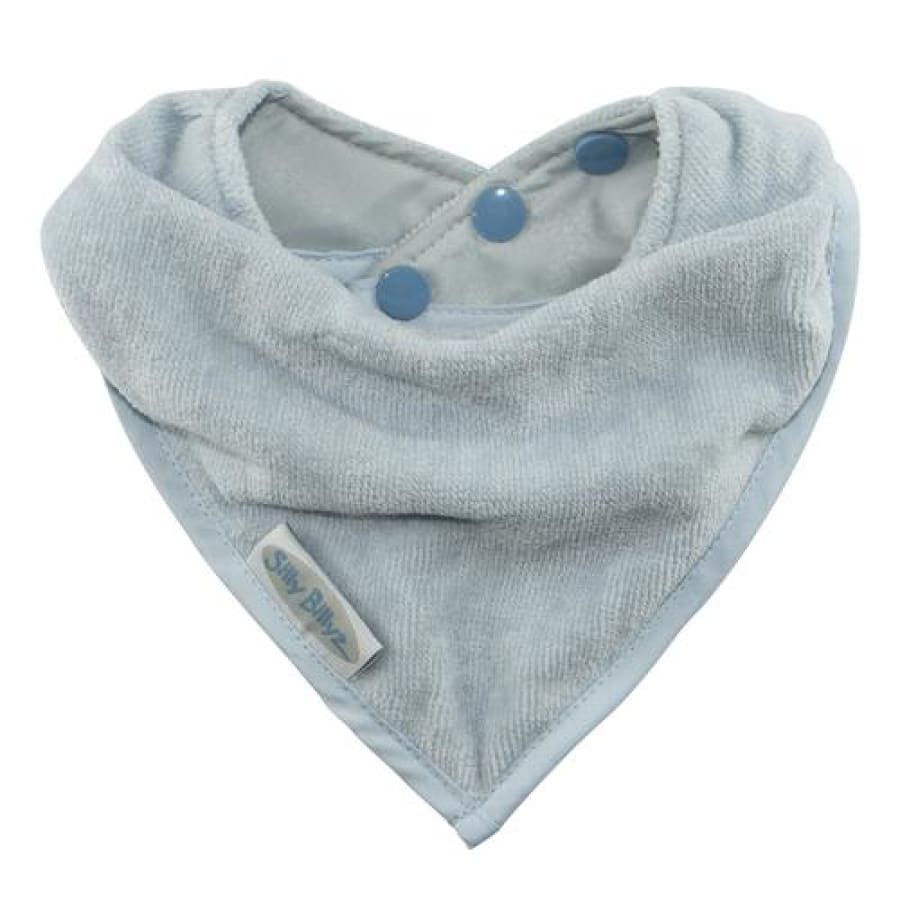 Silly Billyz Towel Bandana Bib - Dusty Blue - Bibs bandana bib Silly Billyz