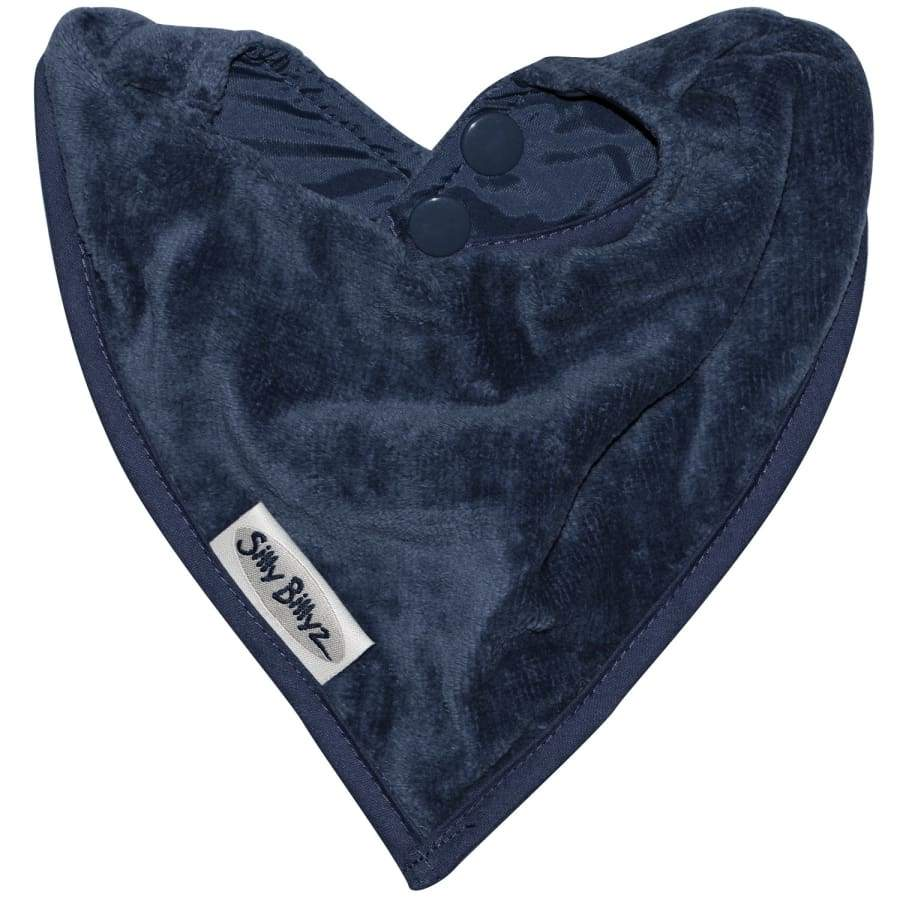 Silly Billyz Towel Bandana Bib - Navy - Bibs bandana bib Silly Billyz