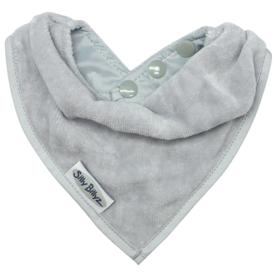 Silly Billyz Towel Bandana Bib - Silver - Bibs bib Silly Billyz