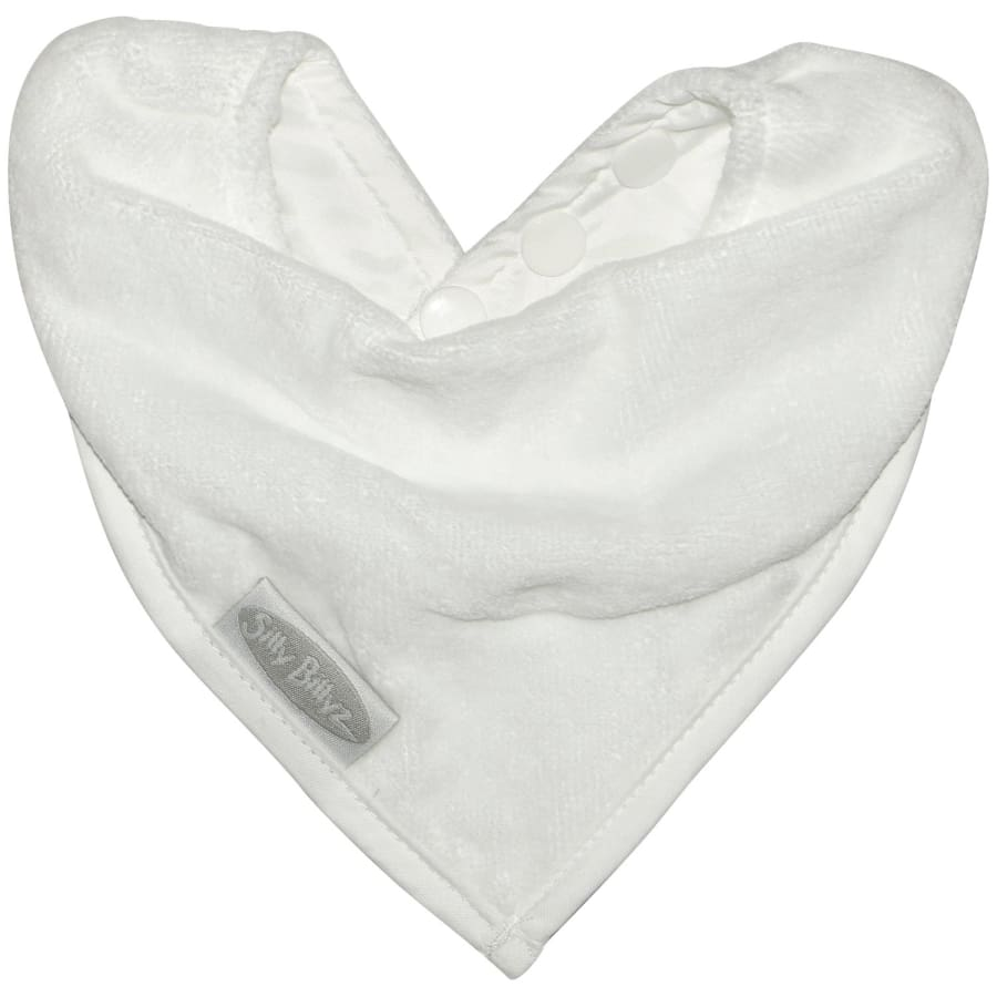 Silly Billyz Towel Bandana Bib - White - Bibs bandana bib Silly Billyz
