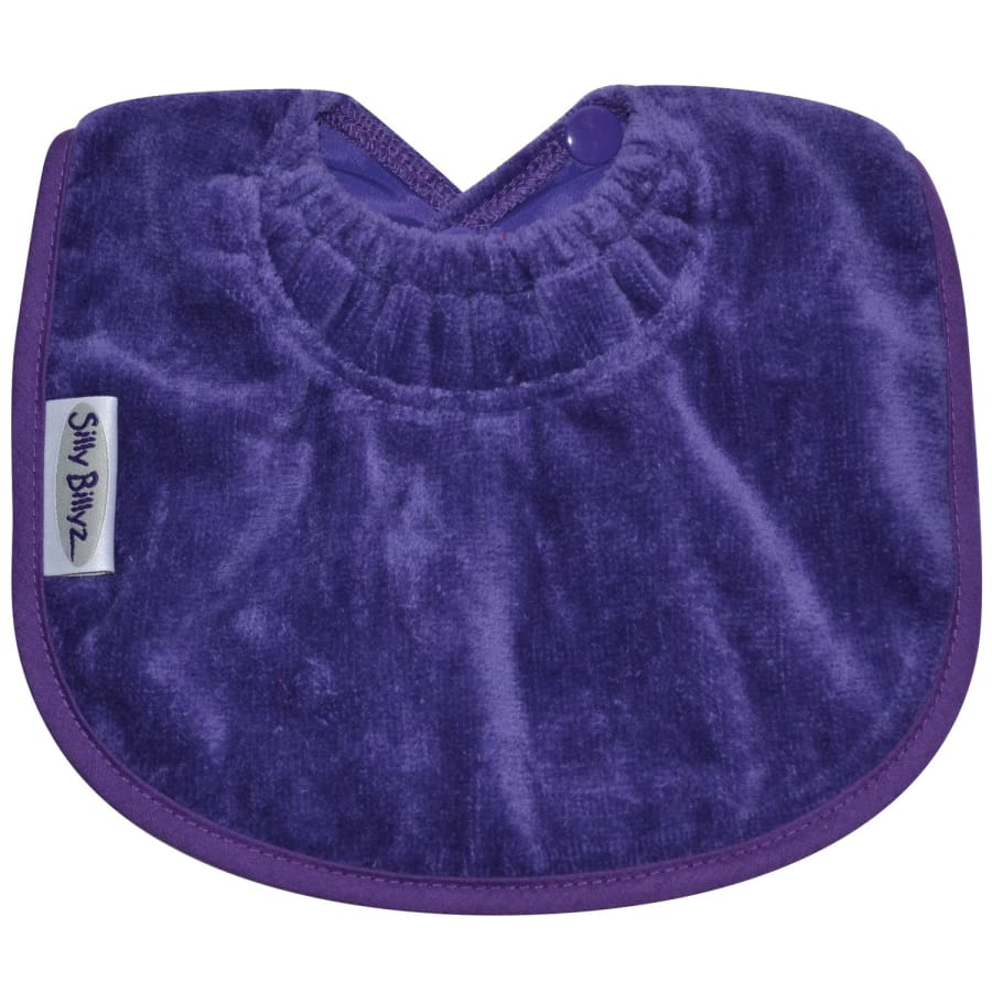 Silly Billyz Towel Biblet - Purple - Bibs bib biblet Silly Billyz towel