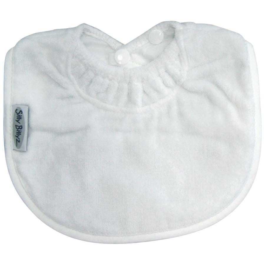 Silly Billyz Towel Biblet - White - Bibs bib biblet Silly Billyz towel