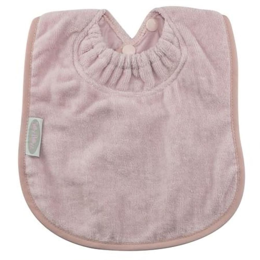 Silly Billyz Towel Large Plain Bib - Antique Pink - Bibs bib large plain Silly Billyz towel