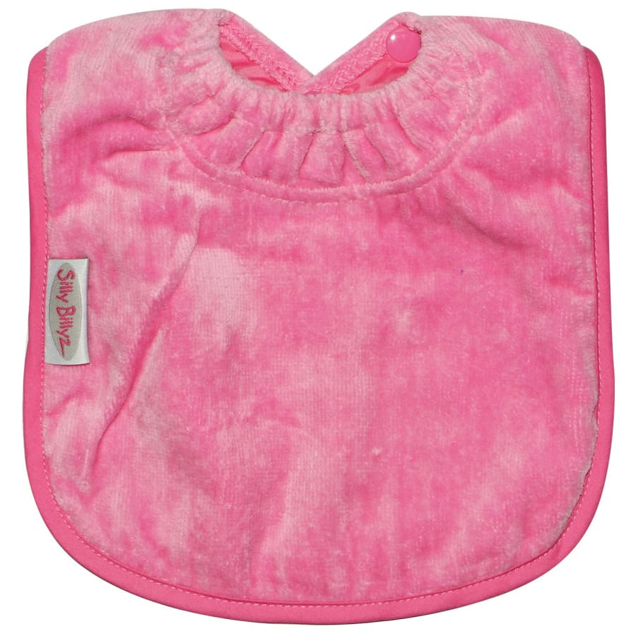 Silly Billyz Towel Large Plain Bib - Cerise - Bibs bib large plain Silly Billyz towel