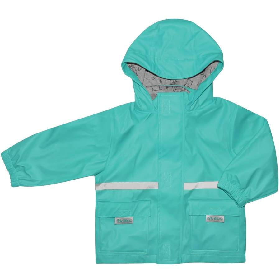 Silly Billyz Waterproof Jacket - Aqua - Small - Jackets jacket overalls silly billyz waterproof weather