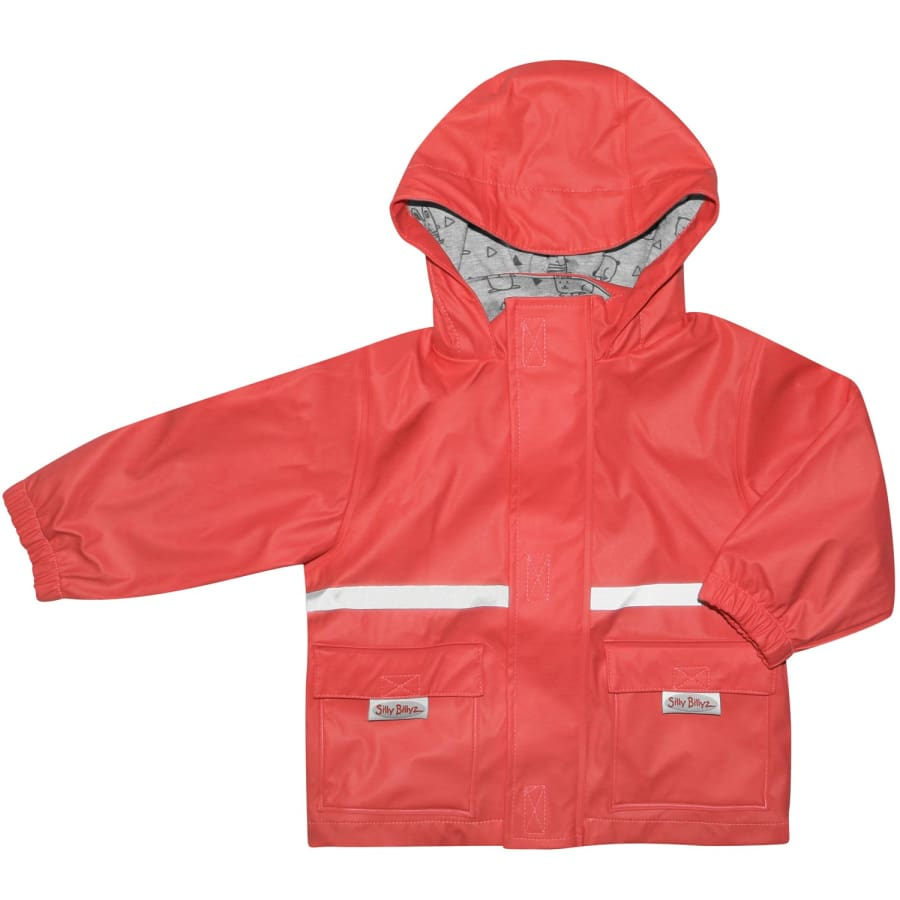 Silly Billyz Waterproof Jacket - Red - Small - Jacket overalls silly billyz waterproof weather
