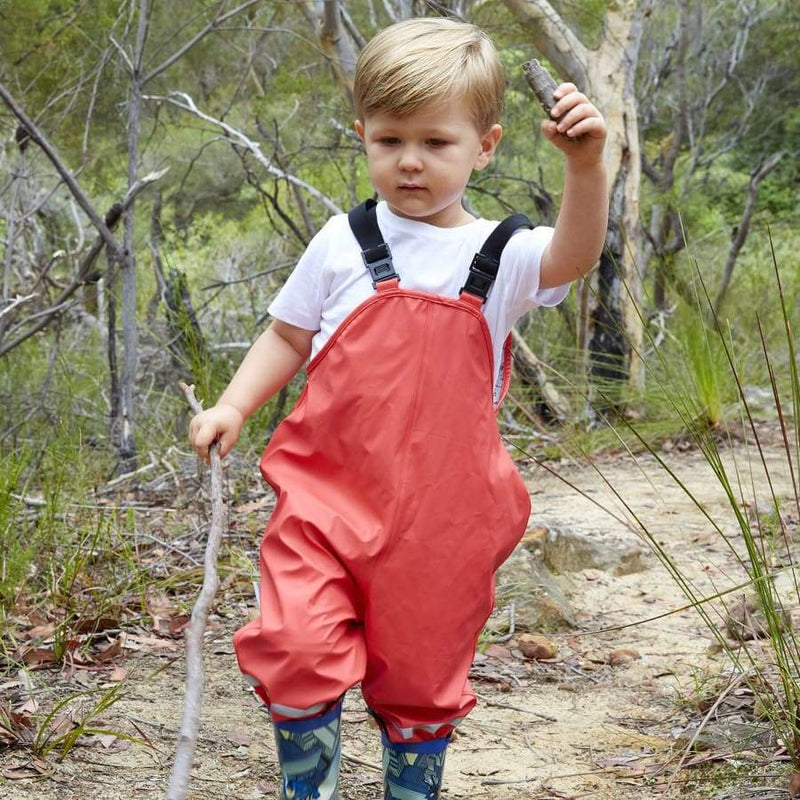 Silly Billyz Waterproof Overalls - Red - Small - Overalls overalls silly billyz waterproof weather