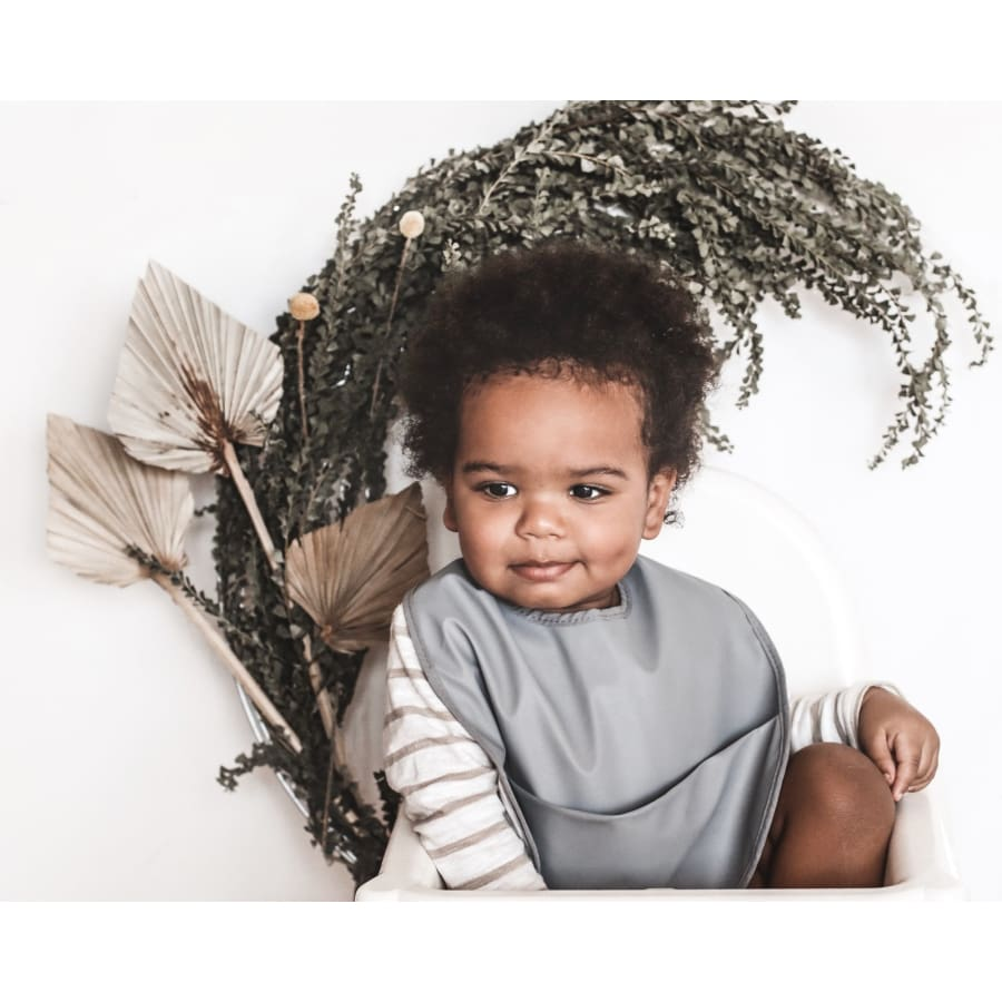 Snuggle Hunny Snuggle Bib Waterproof - Grey - Bibs snuggle hunny, wrap 15% off