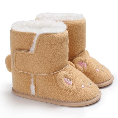 Snuggly Animal Slipper Boots - Beige / 1 - Shoes Shoes