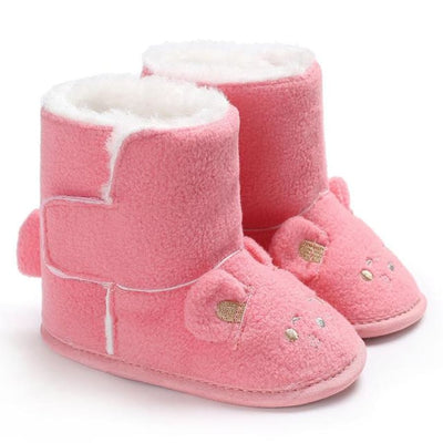 Snuggly Animal Slipper Boots - Pink / 1 - Shoes Shoes
