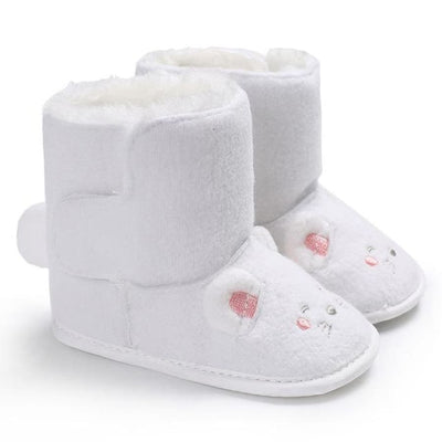 Snuggly Animal Slipper Boots - White / 1 - Shoes Shoes