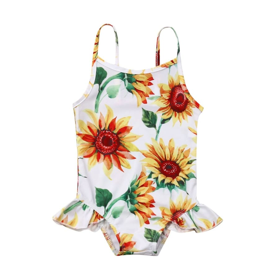 Sunflower One Piece Swimsuit - 0-6 Months - Swimsuit swinsuit