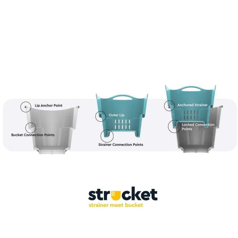 The Strucket - Grey - Bucket bucket strucket