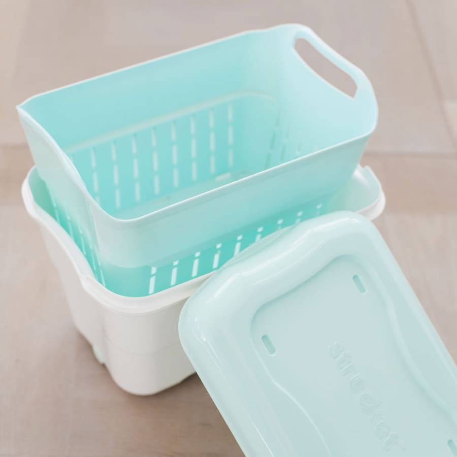 The Strucket Mini - Aqua - White - Bucket bucket, strucket