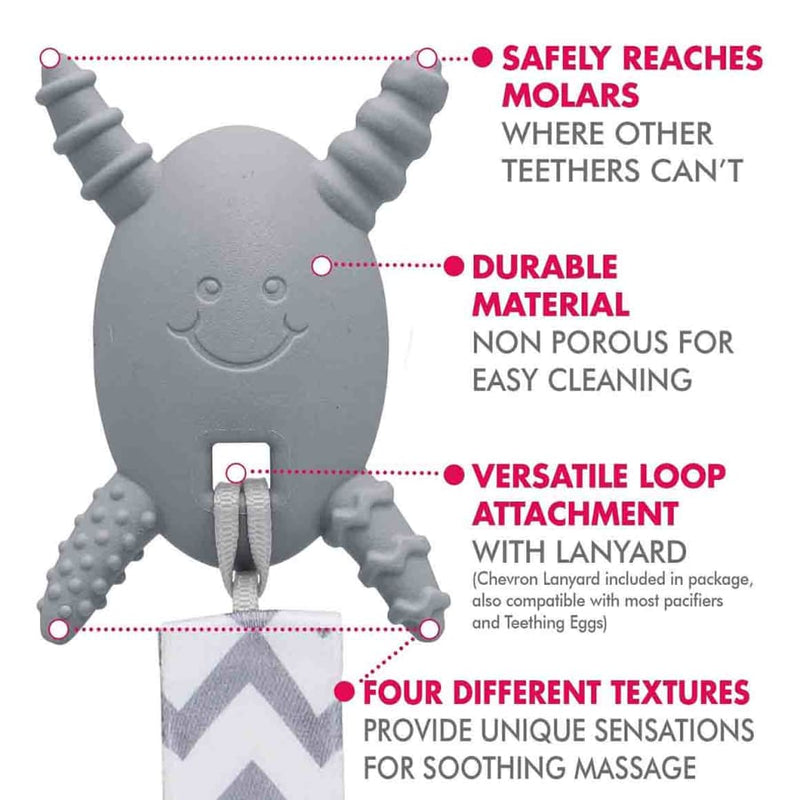 The Teething Egg Molar Magician - Light Grey - Teether teether