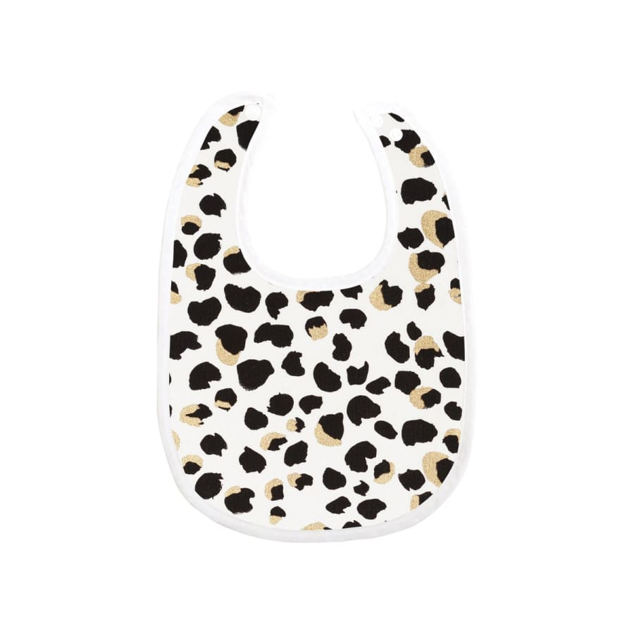 Towelling Stories Bamboo Bib - Leopard - Towel bamboo bib