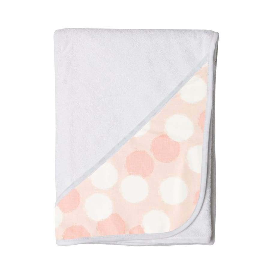Towelling Stories Hands Free Baby Bath Towel - Blush Spots - Towel towel