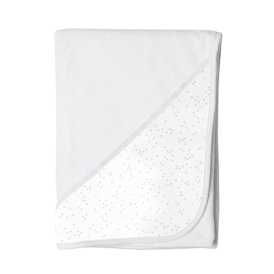 Towelling Stories Hands Free Baby Bath Towel - Silver Sparkle - Towel towel