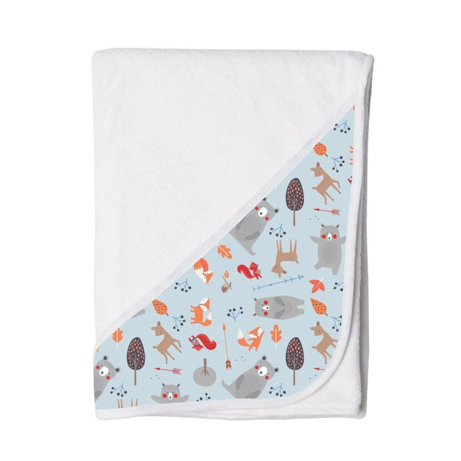 Towelling Stories Hands Free Baby Bath Towel - Woodland Animals - Towel towel 5% off