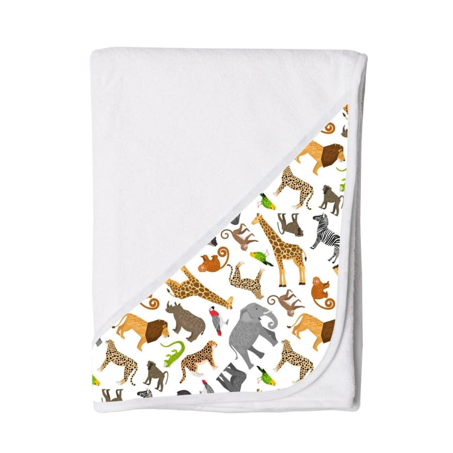 Towelling Stories Hands Free Baby Bath Towel - Zoo - Towel towel 5% off