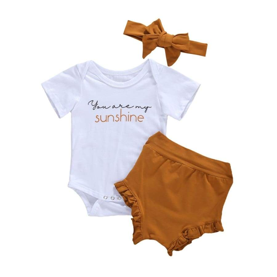 You Are My Sunshine Rust Bloomer Set + Headband - 18-24 Months - sets sets