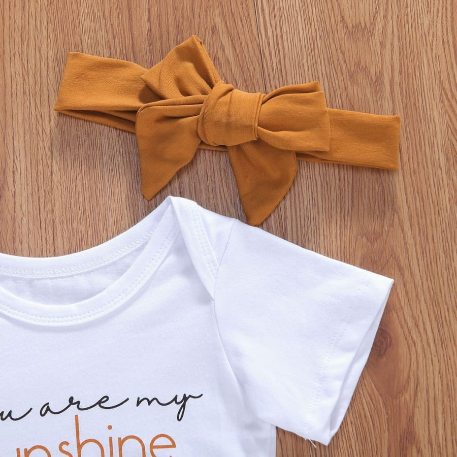 You Are My Sunshine Rust Bloomer Set + Headband - sets sets