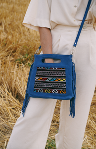 Fringe suede bag blue - IRO