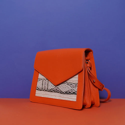 SIAM Double Compartment Bag Medium Orange
