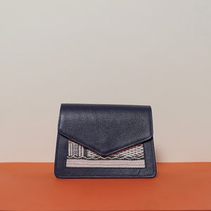 Mini bag Double Compartment Dark Blue with shoulder strap