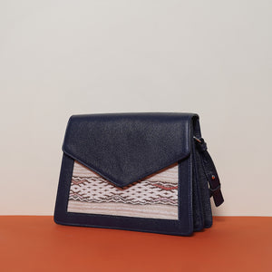 SIAM Double Compartment Bag Medium Dark Blue