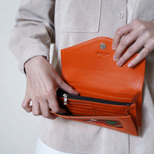 Lalla Wallet orange and red patterns