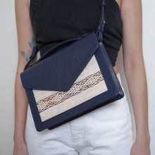 ALOUANE handbag with strap - Dark Blue