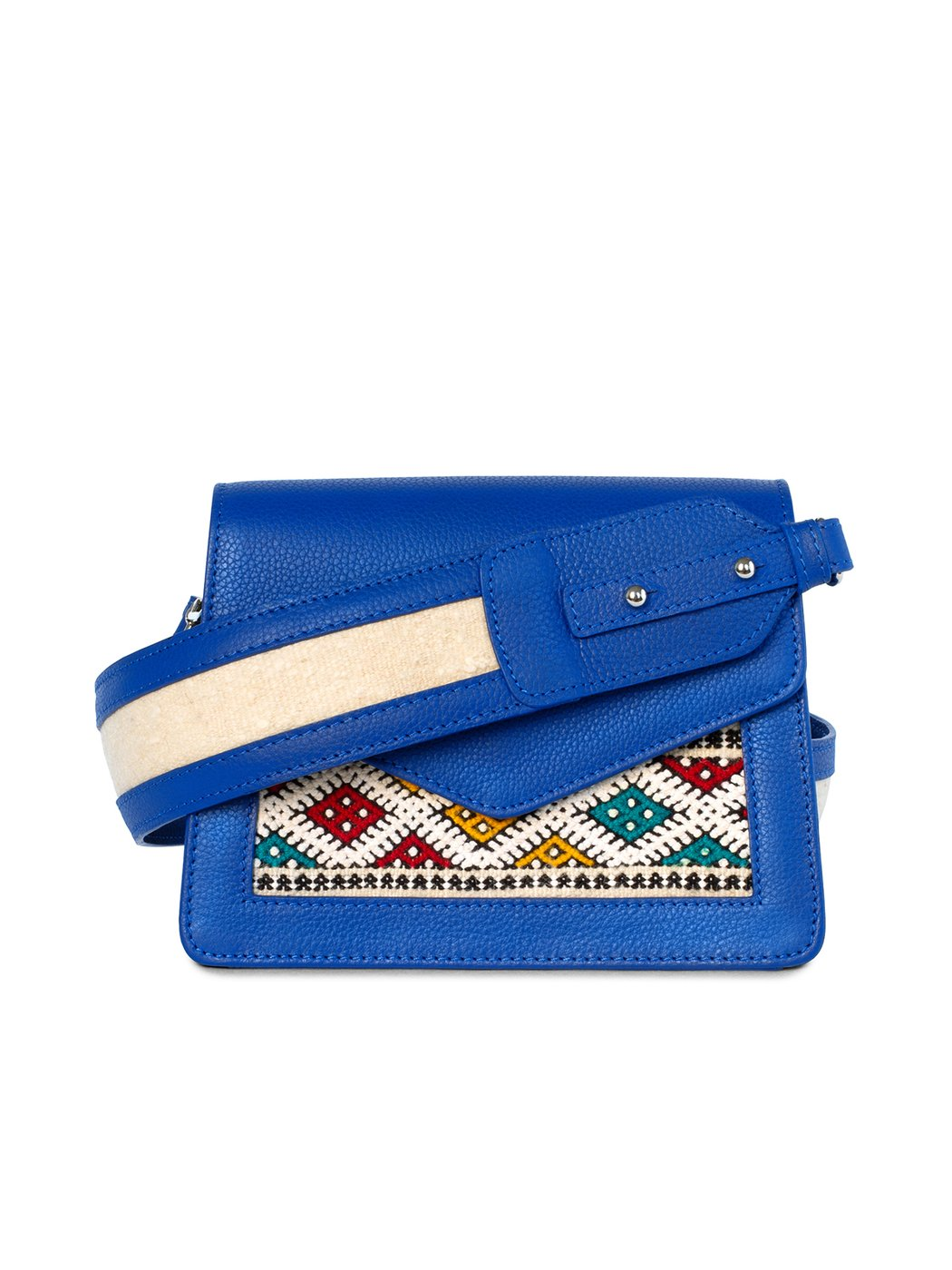 Mini handbag double compartment with shoulder strap Blue edition