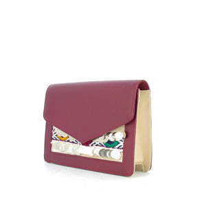 Belt Bag - Bi- color burgundy and nude