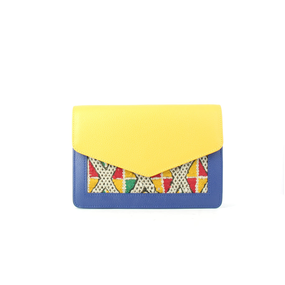 ALOUANE Belt Bag yellow blue