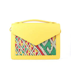 ALOUANE handbag with strap yellow